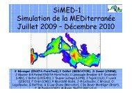 SiMED-1 Simulation de la MEDiterranée Juillet 2009 – Décembre ...