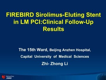 FIREBIRD Sirolimus-Eluting Stent in LM PCI:Clinical ... - Citmd.com