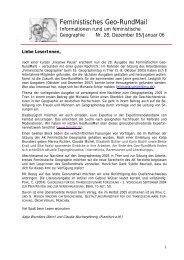 Nr. 28, Dezember 2005 - AK Geographie und Geschlecht