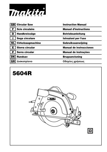 GB Circular Saw Instruction Manual F Scie circulaire