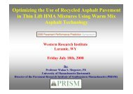 Optimizing the Use of Recycled Asphalt Pavement in Thin Lift HMA ...