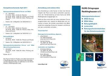 DLRG Ortsgruppe Recklinghausen e.V. - SV BLAU-WEISS ...