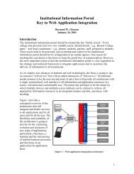 Institutional Information Portal Key to Web Application ... - Jasig