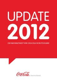 Update 2012 - Coca-Cola Nachhaltigkeitsbericht 2011