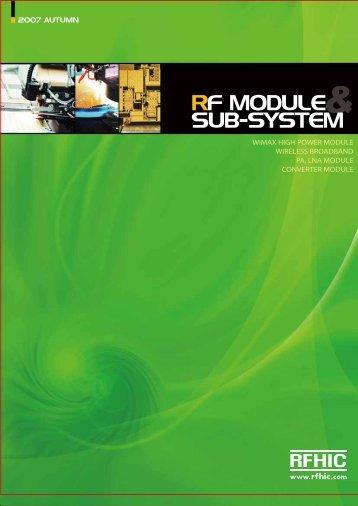RF MODULE SUB-SYSTEM - RfMW