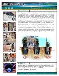 Crosshole Sonic Logging - Olson Instruments, Inc.