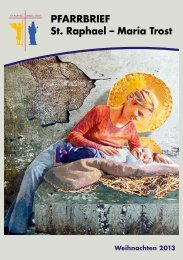 PFARRBRIEF St. Raphael – Maria Trost - in St.Raphael