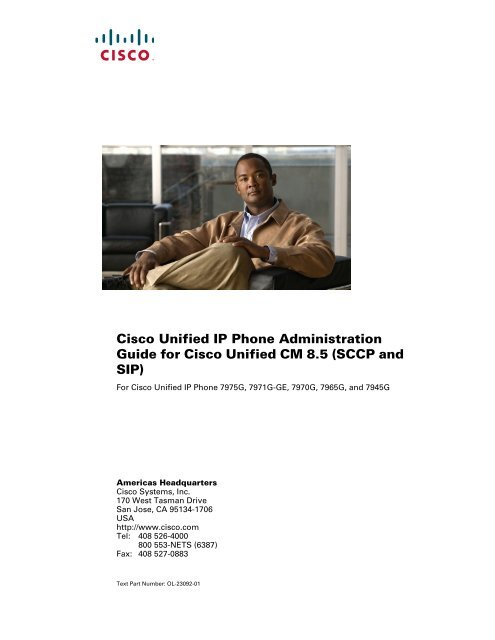 Cisco Unified IP Phone Administration Guide for Cisco