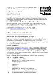 Nr. 4, Oktober - Netzwerk Frankfurt für gemeinschaftliches Wohnen eV