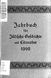 Jahrbuch für jüdische Geschichte und Literatur