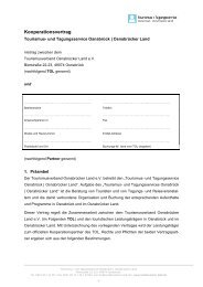Kooperationsvertrag - Tourismusverband Osnabrücker Land e.V.