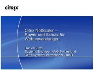 Citrix NetScaler – Performante, sichere Bereitstellung ... - Digicomp