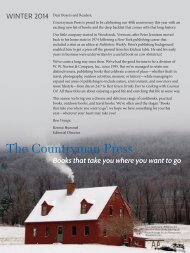 Books that take you where you want to go - The Countryman Press!