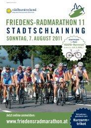 FRIEDENS-RADMARATHON 11 STADTSCHLAINING SONNTAG, 7 ...