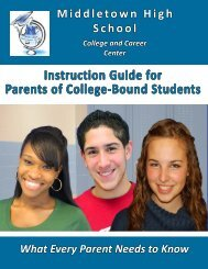 Instruction Guide for Parents of College- Bound Students Part 1