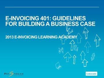 Download e-Invoicing 401 Presentation Materials - Basware