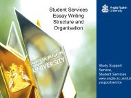 Essay writing - Structure and organisation - presentation - My.Anglia ...
