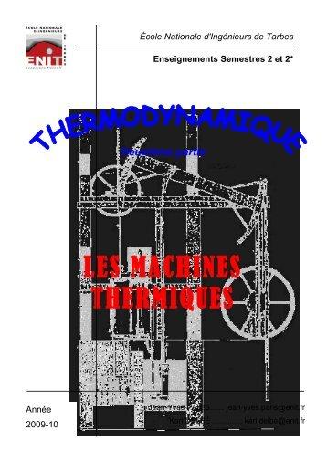 Les machines thermiques - Ecole Nationale d'Ingénieurs de Tarbes