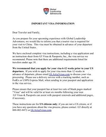 Passport Re Application Instructions G3 Visas Passports
