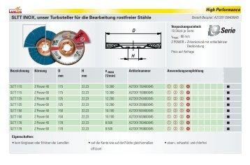 Schleiflamellenteller - LUKAS-ERZETT