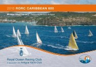 2010 RORC CARIBBEAN 600 Royal Ocean Racing Club