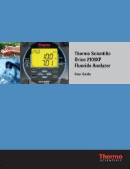 Thermo Scientific Orion 2109XP Fluoride Analyzer