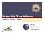 Payment Application Modernization (PAM) - Financial Management ...