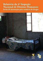 Relatório da 4ª Inspeção Nacional de Direitos Humanos - CFP