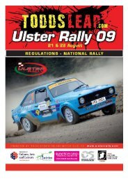 ULSTER RALLY 2005 - Association of Northern Ireland Car Clubs