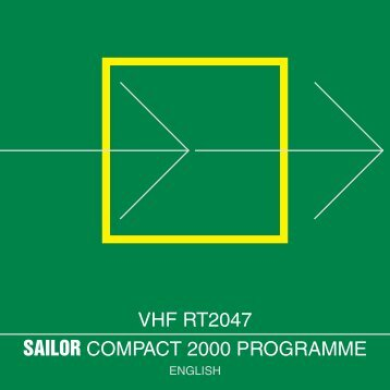 SAILOR COMPACT 2000 PROGRAMME VHF RT2047 - Polaris-as.dk