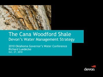The Cana Woodford Shale - Water Resources Board - State of ...
