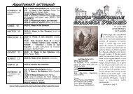 Appuntamenti settimanali - Parrocchia di Gradisca d'Isonzo