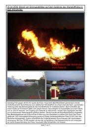 25.04.2009: Brand von Grüngutabfällen auf dem Gelände des ...