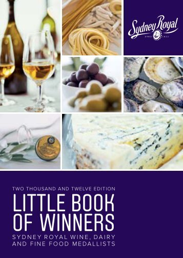 LITTLE BOOK OF WINNERS - Royal Agricultural Society of NSW