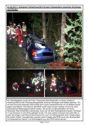 23.04.2011: Schwerer Verkehrsunfall mit zwei Todesopfern ...