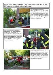 07.06.2007: Rettung eines 11-jährigen Mädchens aus einem ...