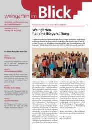 Ausgabe 7/2013 - Weingarten im Blick