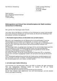 Stellungnahme zum Entwurf des Lärmaktionsplans der ... - Leobigg.de