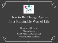 How to Be Change Agents for a Sustainable Way of Life - SPREAD ...