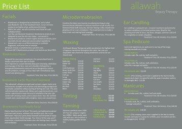 Price List - allawah.net
