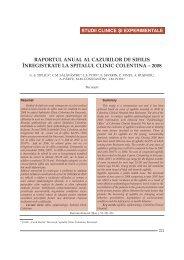 raportul anual al cazurilor de sifilis înregistrate la spitalul clinic ...