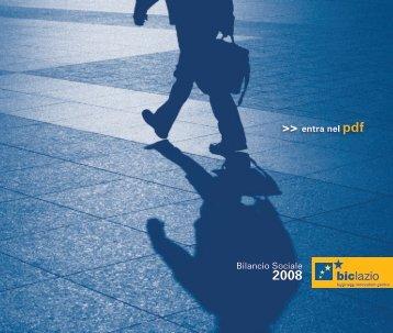 Bilancio Sociale 2008 - Biclazio.it