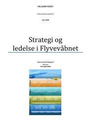 Strategi og ledelse i Flyvev bnet - Forsvarsakademiet