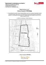 Begründung zum Bebauungsplan XVII-50aa - Karlshorst Ost