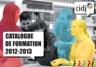Catalogue de formation 2012-2013 - Cidj