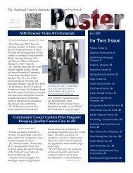 Jul07 POSTER 070307.indd - NCI at Frederick - National Cancer ...