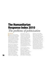 The Humanitarian Response Index 2010 - DARA