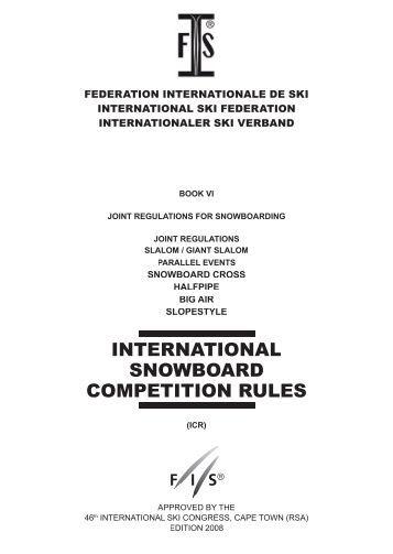 INTERNATIONAL SNOWBOARD ... - International Ski Federation