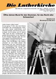 Zeitung 2013-1 - Währing & Hernals Lutherkirche Wien - Währing ...