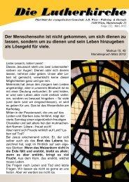Zeitung 2012-1 - Währing & Hernals Lutherkirche Wien - Währing ...